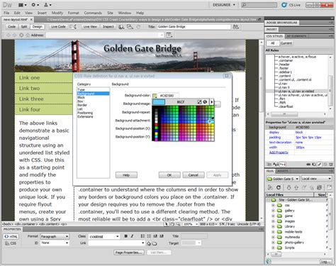 editing css layouts  dreamweaver cs dreamweaver tutorials