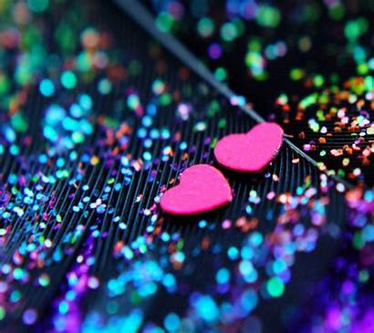 Glitter Heart Wallpapers Backgrounds Hearts Sparkle Mobile