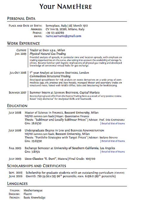 Typical Cv Template by The Unconventional Guide For A New Cv 8 Creative Tips