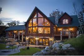 Luxury Log Home Designs by Luxury Architecture Design Log Home Made From Stone And Wood With