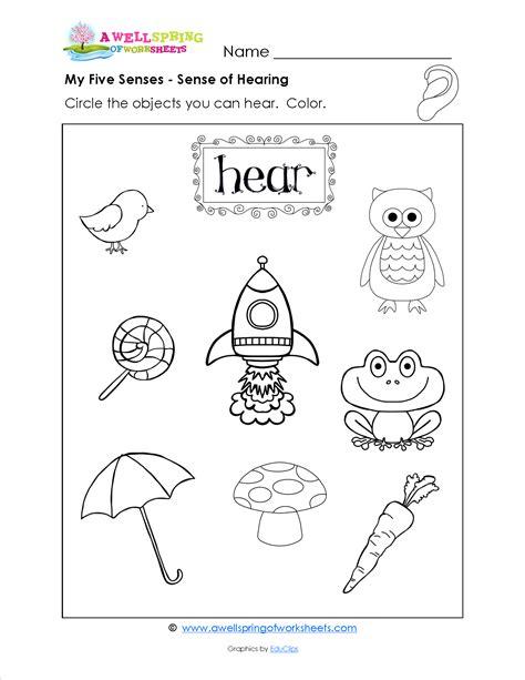 my five senses worksheets worksheets for all grade level worksheets kindergarten science