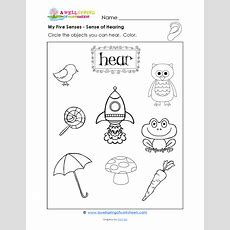 Grade Level Worksheets  Kindergarten Science  Five Senses Kindergarten, Five Senses Preschool