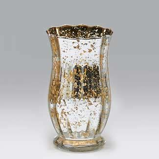 Gold Colored Vases by Glass 7 75x4 Quot Silver Gold Vase Floral Supply Syndicate