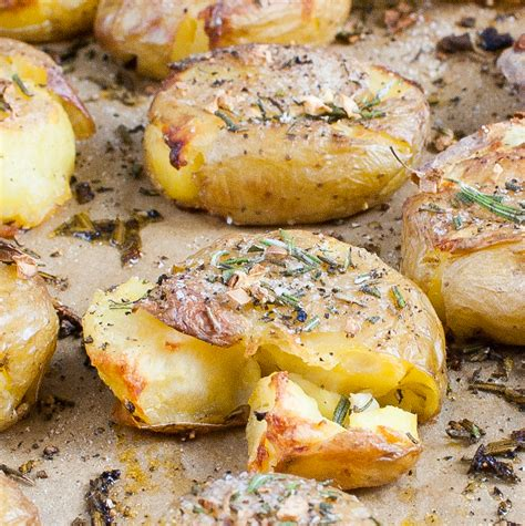 smashed potatoes smashed potato recipes are spuds at their best