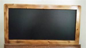 Clearance SALE Chalkboard Framed wood burned finish