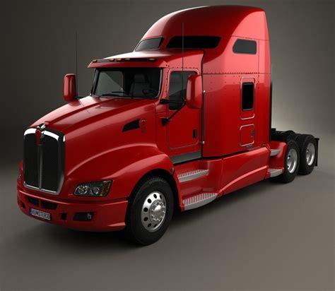 all kenworth trucks kenworth t660 tractor truck 2008 3d model hum3d