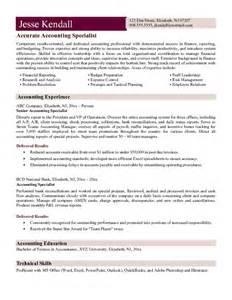 sle of best resume for accountant exle accounting specialist resume free sle