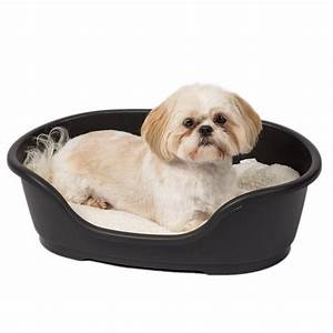 ruffer and tuffer hard plastic dog bed black pets at home With at home dog beds