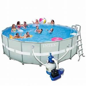 Hors Sol Piscine Intex : travaux piscine hors sol tubulaire intex ~ Dailycaller-alerts.com Idées de Décoration