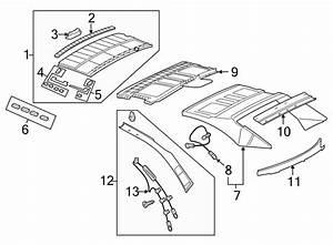 Volkswagen Eos Headliner Hardware Kit