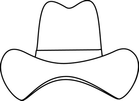 Black And White Simple Cowboy Hat Templates Pinterest