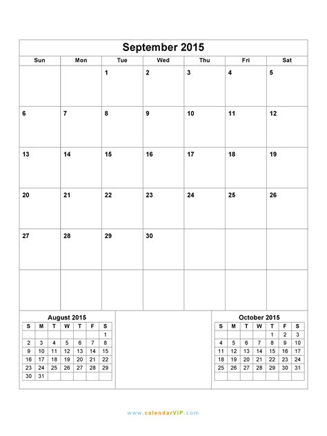 september calendar blank printable calendar template word