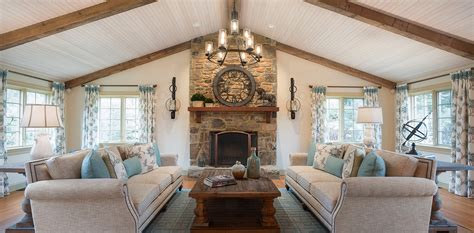 Charming Farmhouse by Charming Farmhouse Living Room Decorating Den Interiors