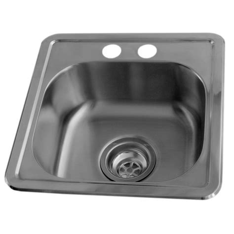 Home Depot Stainless Bar Sink by Acri Tec Stainless Steel Bar Sink Single Bowl 2 Faucet