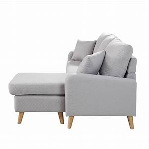 modern fabric small space sectional sofa with reversible With modern light grey fabric sectional sofa
