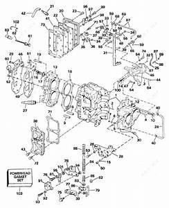 Johnson 2005 25 - J25gtesoc  Cylinder  U0026 Crankcase