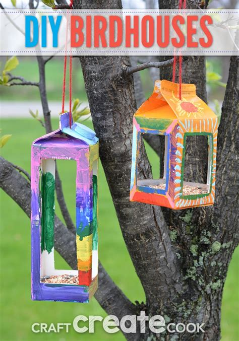 craft create cook birdhouse crafts  kids craft