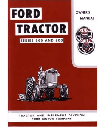 ford   model tractor owners manual