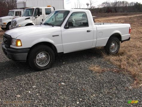 ranger ford 2005 2005 ford ranger xl regular cab in oxford white a71662