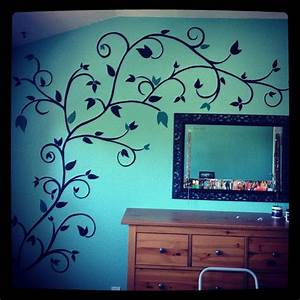 Hand painted wall design paint powder