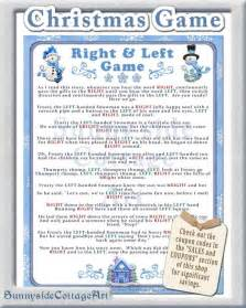 items similar to christmas right and left story game christmas party game cookie exchange game