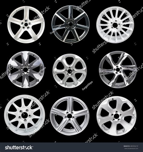 Set 9 Isolated Car Wheels On Fotka