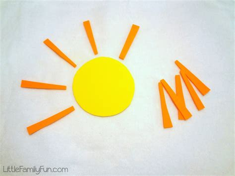 Little Family Fun: Counting Sun Rays - Preschool Activity