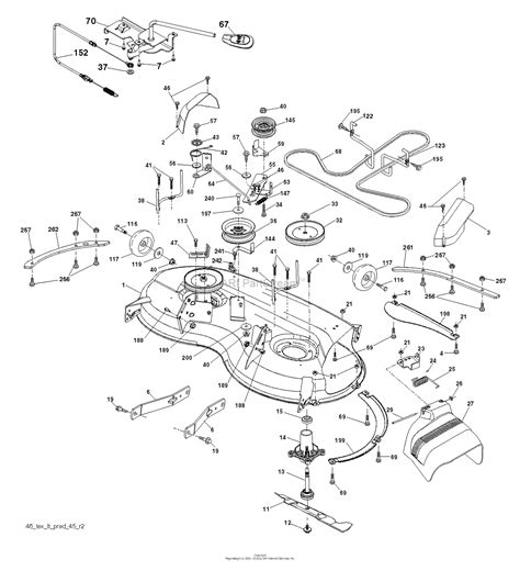 Deck Part Diagram by Husqvarna Yth22v46 96043021300 2015 09 Parts Diagram