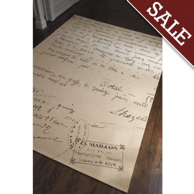french script indooroutdoor rug   home