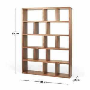 Etagere Profondeur 20 : etagere bois bibliotheque ~ Edinachiropracticcenter.com Idées de Décoration