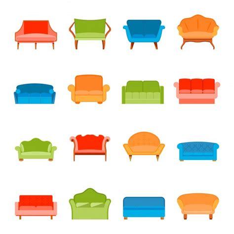sofa vector sof 225 s sof 225 muebles modernos iconos conjunto plano
