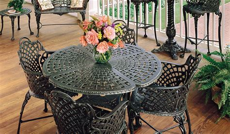 basketweave patio collections three coins cast
