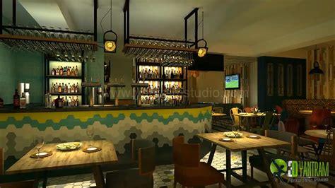 stunning modern  bar interior design view
