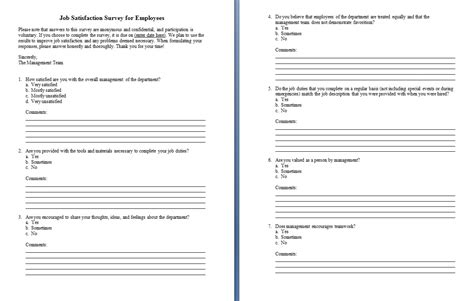 questionnaire templates microsoft word driverlayer