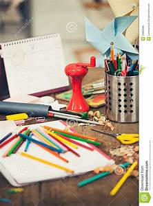 Messy Student's Desk Royalty Free Stock Image - Image ...