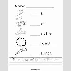 Fill In The Missing Letter C Worksheet  Twisty Noodle