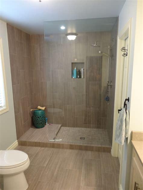 wonderful tile   shower   leonia