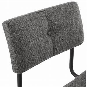 Chaise En Tissu Gris : chaise design capitonn e bonou en tissu gris fonc ~ Teatrodelosmanantiales.com Idées de Décoration