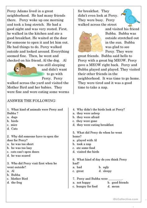 Reading Comprehension For Esl Students  Reading Comprehension For Esl Studentseffective