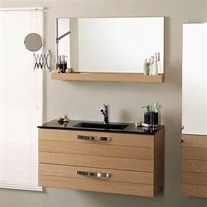 meuble salle de bain 80 nouveau couleur abricot mixte With meuble salle de bain glace
