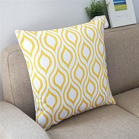 yellow accent pillows howarmer canvas cotton throw pillows cover for set
