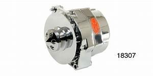 Powermaster Chevy Alternator  W   Baffle  U0026 Cone  V