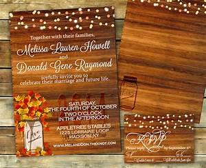 rustic fall wedding invitation shower invitation fall With blank autumn wedding invitations