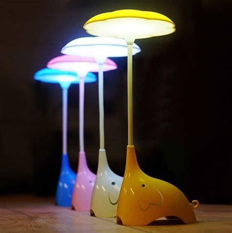 usb elephant rechargeable eye care led desk lamp feelgift