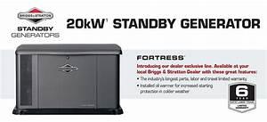 20kw Briggs  U0026 Stratton Fortress Standby Generator