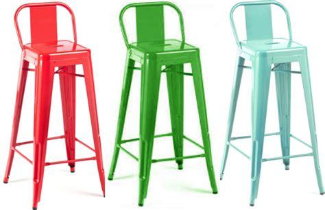 chaise de bar vintage tolix bar stool h80 h90 café retro pauchard replica diiiz