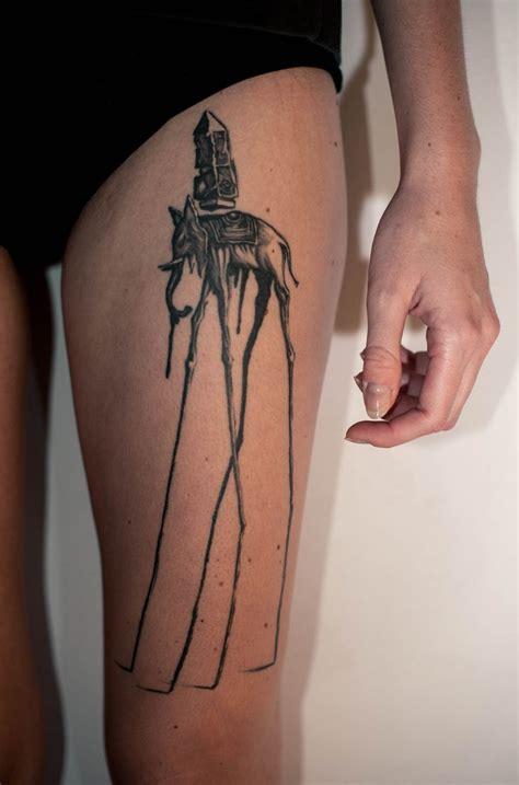 cool dali elephant tattoos