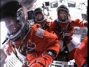 Cockpit view of Space Shuttle Atlantis STS-135 launch ...