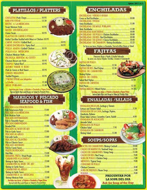 cuisine menu puebla restaurant in dyker heights
