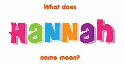 Hannah Meaning Names